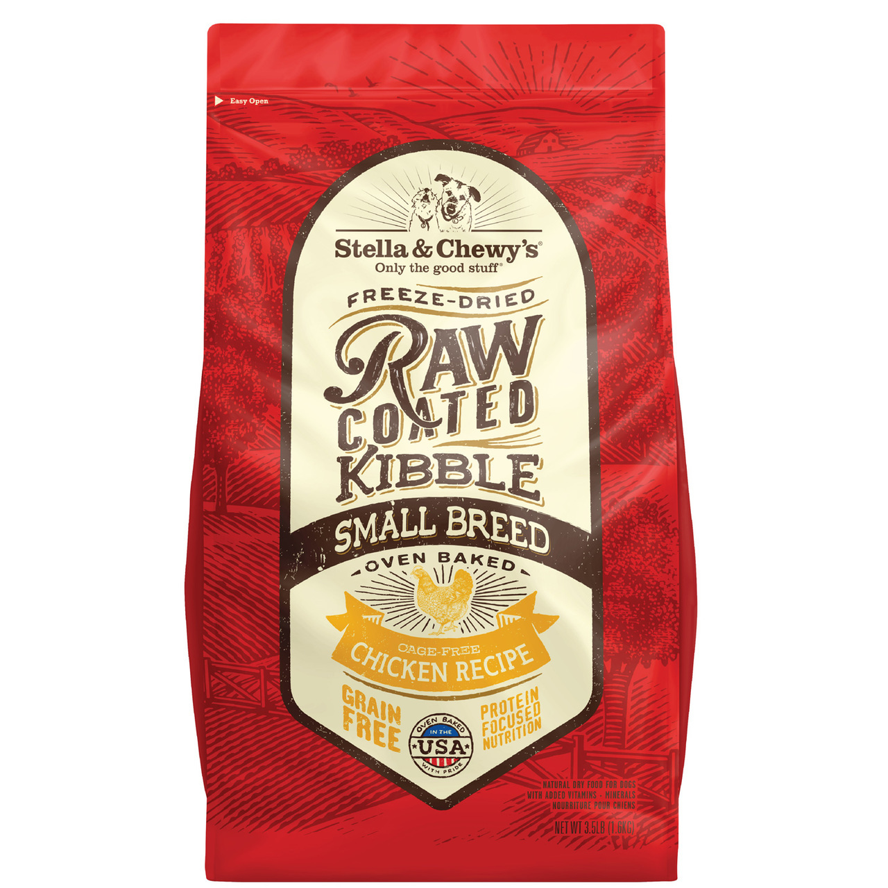 Stella & Chewy's Raw Coated Kibble Small Breed Chicken Grain-Free Dog Food, 10-lb
