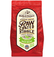 Stella & Chewy's Dog Raw Coated Kibble Duck Recipe Dry Dog Food, 22-lb
