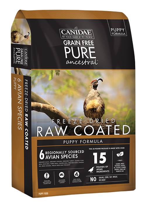 Canidae Grain Free Pure Ancestral Avian Puppy Formula With Quail, Chicken & Turkey