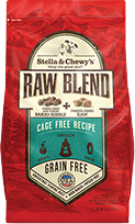 Stella & Chewy's Raw Blend Cage Free Recipe Freeze-Dried Raw & Dry Dog Food, 10-lb