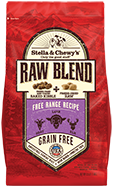 Stella & Chewy's Raw Blend Free Range Recipe Freeze-Dried Raw & Dry Dog Food, 3.5-lb