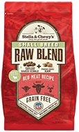 Stella & Chewy's Raw Blend Small Breed Red Meat Recipe Freeze-Dried Raw & Dry Dog Food, 3.5-lb