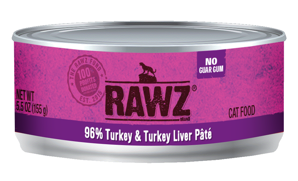 RAWZ Cat 96% Turkey & Turkey Liver