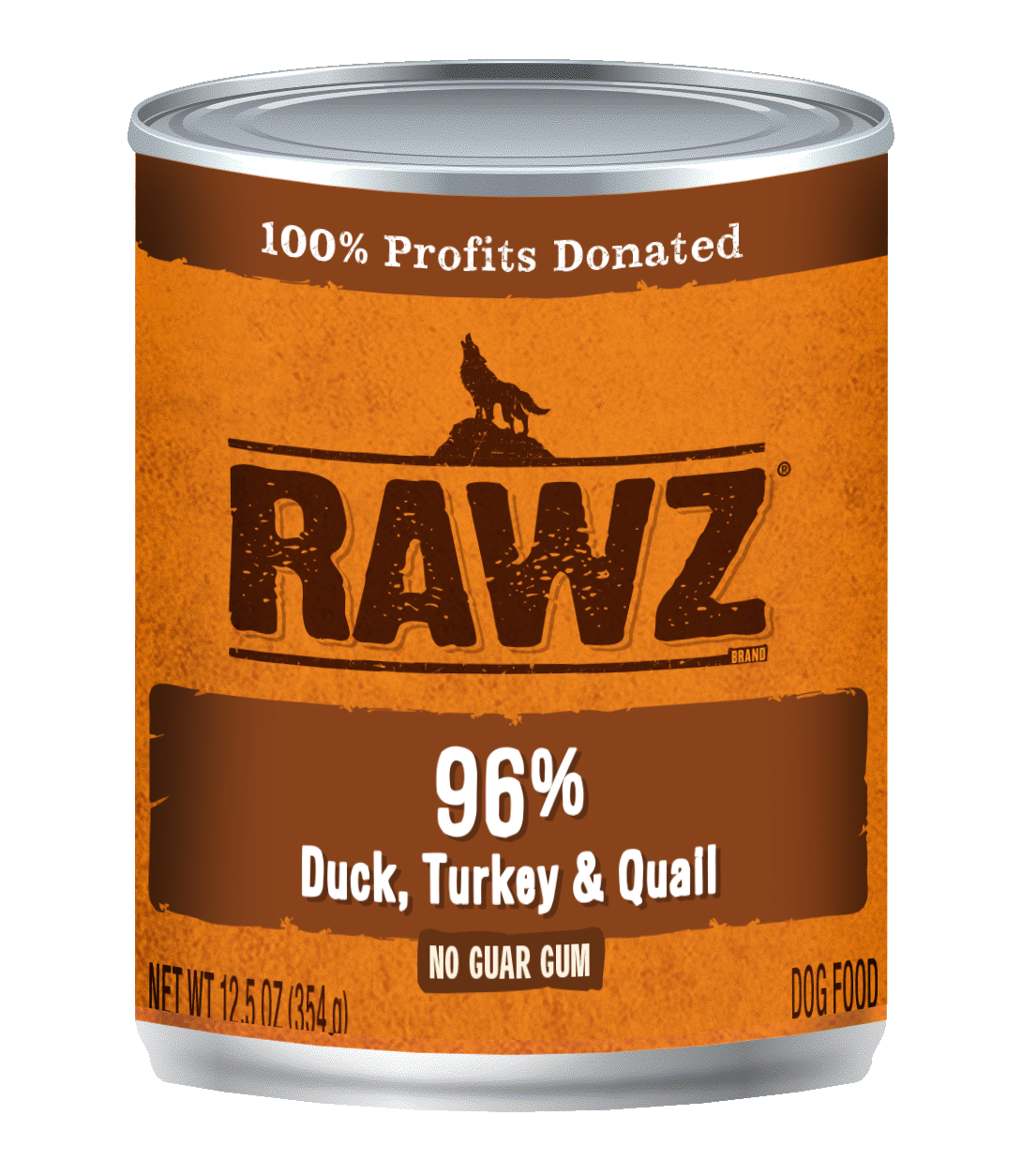 RAWZ Dog 96% Duck, Turkey & Quail, 12.5-oz
