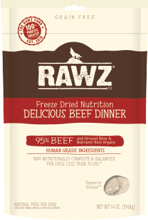 RAWZ Dog Freeze-Dried Delicious Beef Dinner