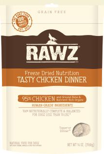 RAWZ Dog Freeze-Dried Tasty Chicken Dinner, 5-oz