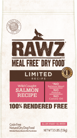 RAWZ Meal Free Dry Dog Food Limited Ingredient Diet Wild Caught Salmon Recipe