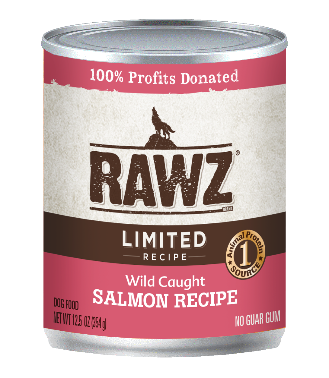 RAWZ Dog Wet Food Limited Ingredient Diet Wild Caught Recipe, 12.5-oz