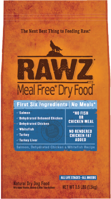 RAWZ Meal Free Dry Dog Food Salmon, Chicken & Whitefish Recipe, 10-lb