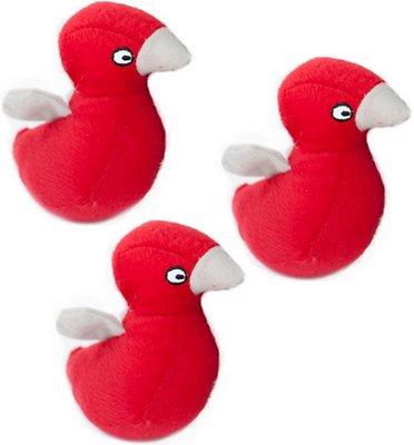 ZippyPaws Burrow Squeaky Hide and Seek Plush Dog Toy, Bird Nest, Refills