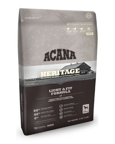 ACANA Heritage Light & Fit Formula Grain Free Dry Dog Food, 25-lb