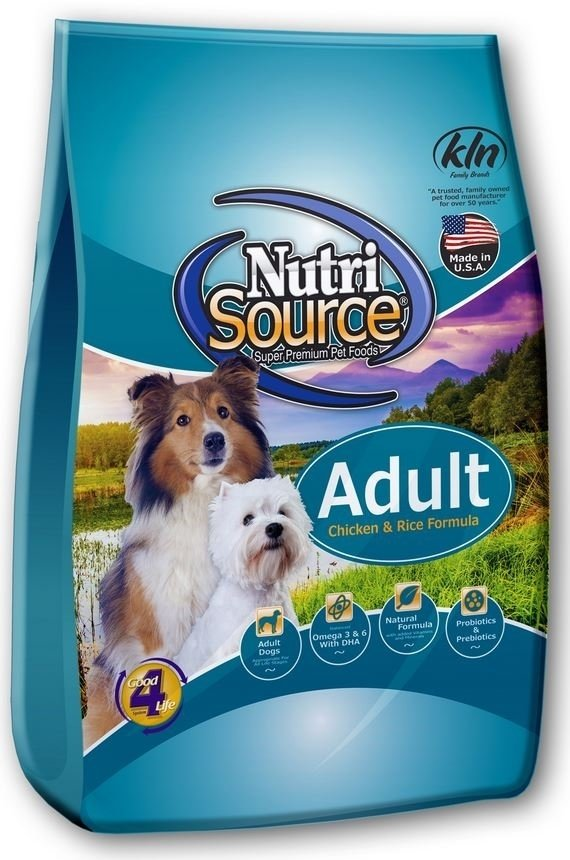 NutriSource Adult Chicken and Rice Dry Dog Food, 30-lb