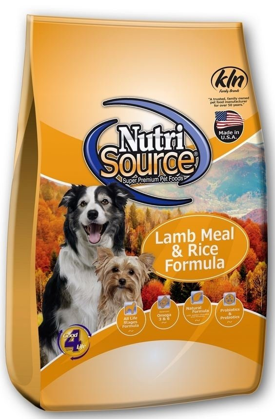 NutriSource Adult Lamb and Rice Dry Dog Food, 5-lb
