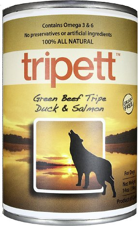 PetKind Tripett Green Beef Tripe, Duck & Salmon Grain-Free Canned Dog Food