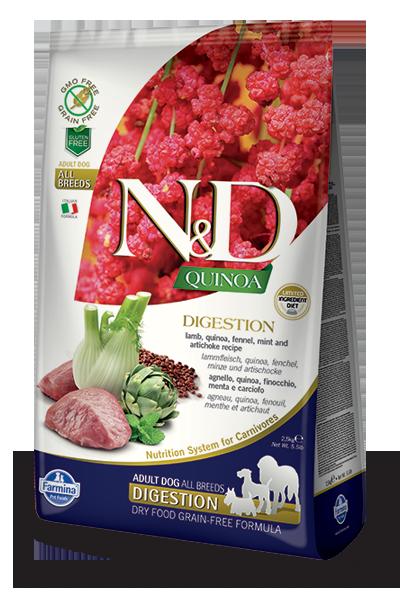 Farmina Natural & Delicious Quinoa Functional Digestion Lamb Dry Dog Food Formula, 15.4-lb