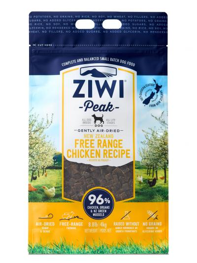 Ziwi Dog Peak Chicken Recipe Grain-Free Air-Dried Dog Food, 16-oz