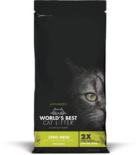 World's Best Advanced Zero Mess Pine Scented Cat Litter, 12-lb
