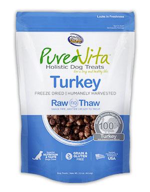 Pure Vita Freeze Dried Delights for Dogs Turkey 2.2oz
