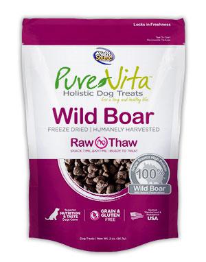 PureVita Freeze Dried Delights for Dogs Wild Boar 2-oz