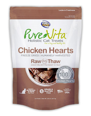 PureVita Freeze Dried Delights for Cats Chicken Hearts 0.8-oz