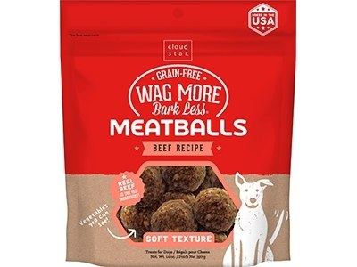 Cloud Star Wag More Bark Less Meatballs Beef 14oz