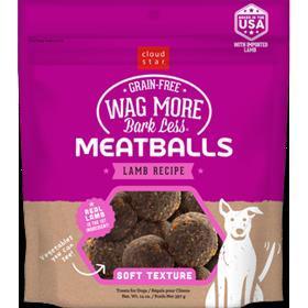 Cloud Star Wag More Bark Less Meatballs Lamb 14oz