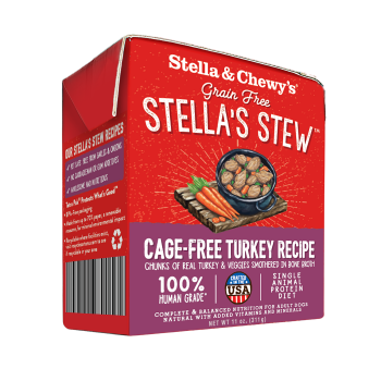 Stella & Chewy's Cage-Free Turkey Wet Food Stew for Dogs, 11-oz