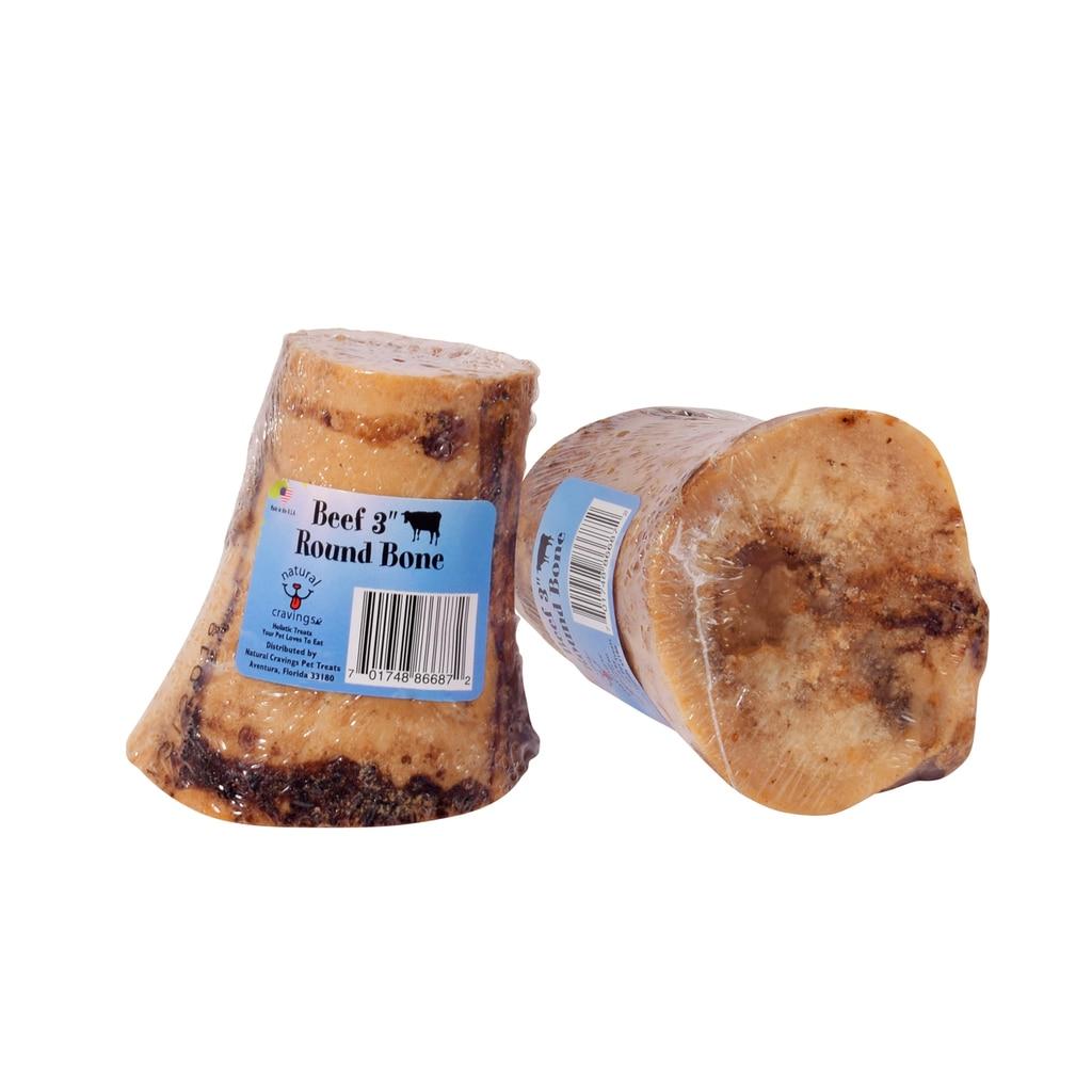 """Natural Cravings USA 3"""" Marrow Bone Dog Treats"""
