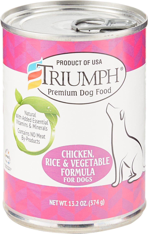 Triumph Chicken, Rice 'N Vegetable Formula Canned Dog Food, 13.2-oz