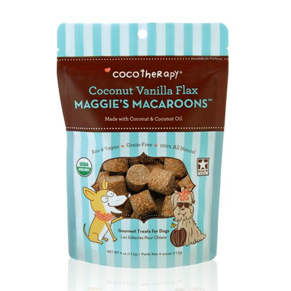 Coco Therapy Maggie's Macaroons Coconut Vanilla Flax, 4oz bag