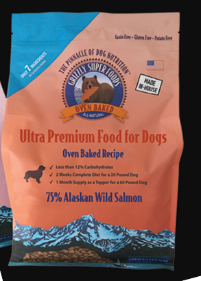 Grizzly Super Food Ultra Premium Oven Baked Recipe Food for Dogs