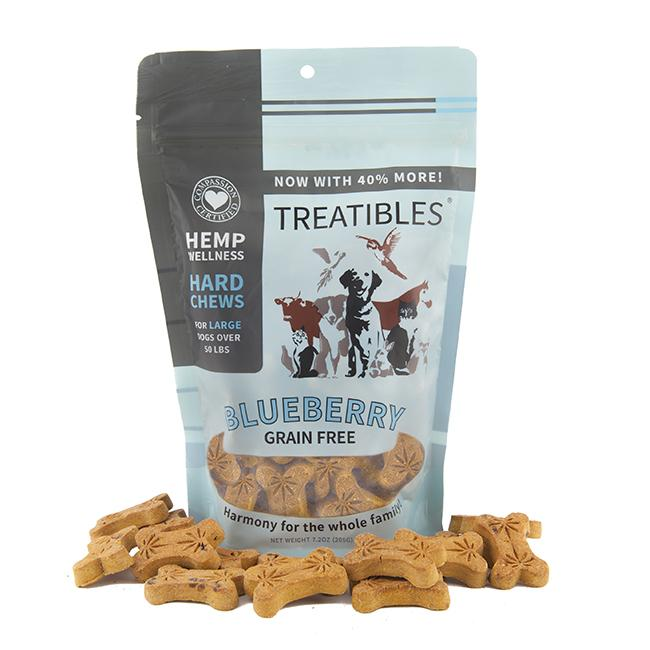 Treatibles Large Blueberry 4 Mg Grain Free Chews