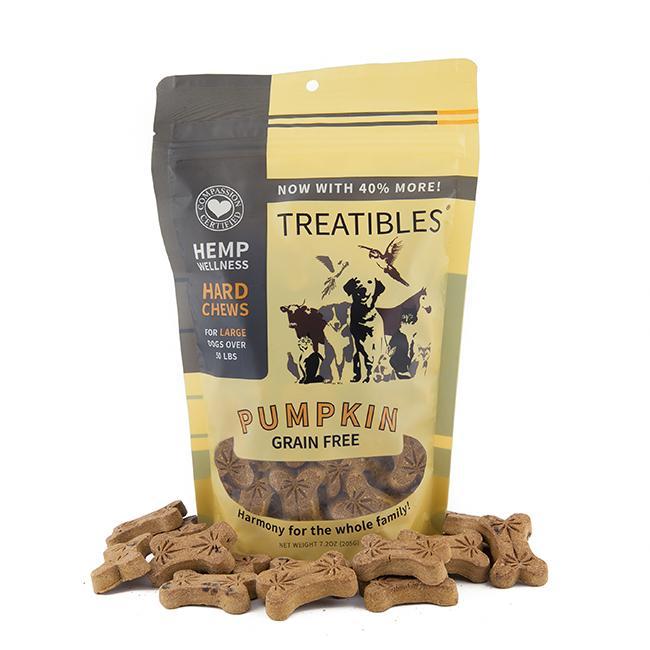 Treatibles Large Pumpkin 4 Mg Grain Free Chews