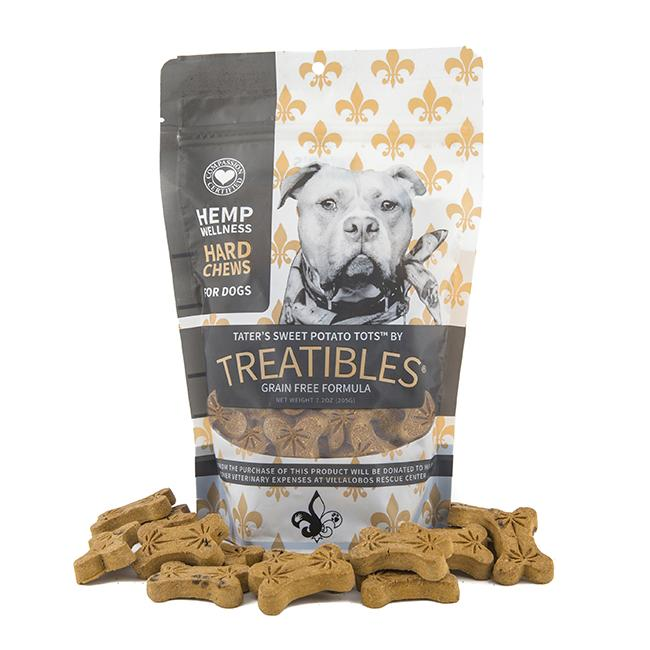 Treatibles Large Tater's Sweet Potato Tots 4 Mg Grain Free Chews