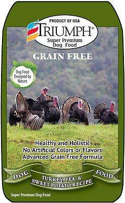 Triumph Grain-Free Turkey, Pea & Sweet Potato Recipe Dry Dog Food