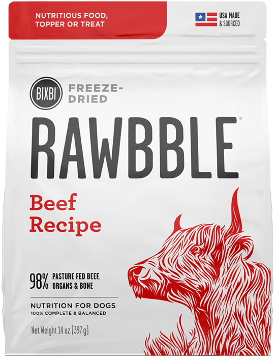 Rawbble Freeze Dried Food Beef Recipe