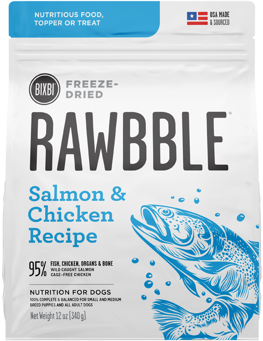 Rawbble Freeze Dried Food Salmon & Chicken Recipe