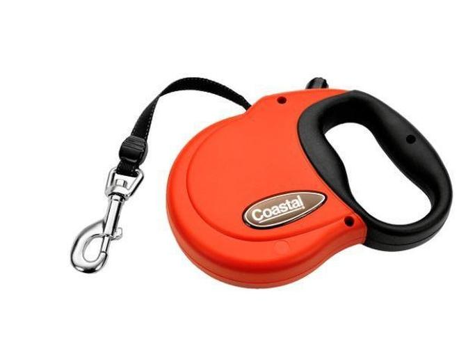 Coastal Pet Power Walker Retractable Dog Leash Red, Large up to 96-lbs