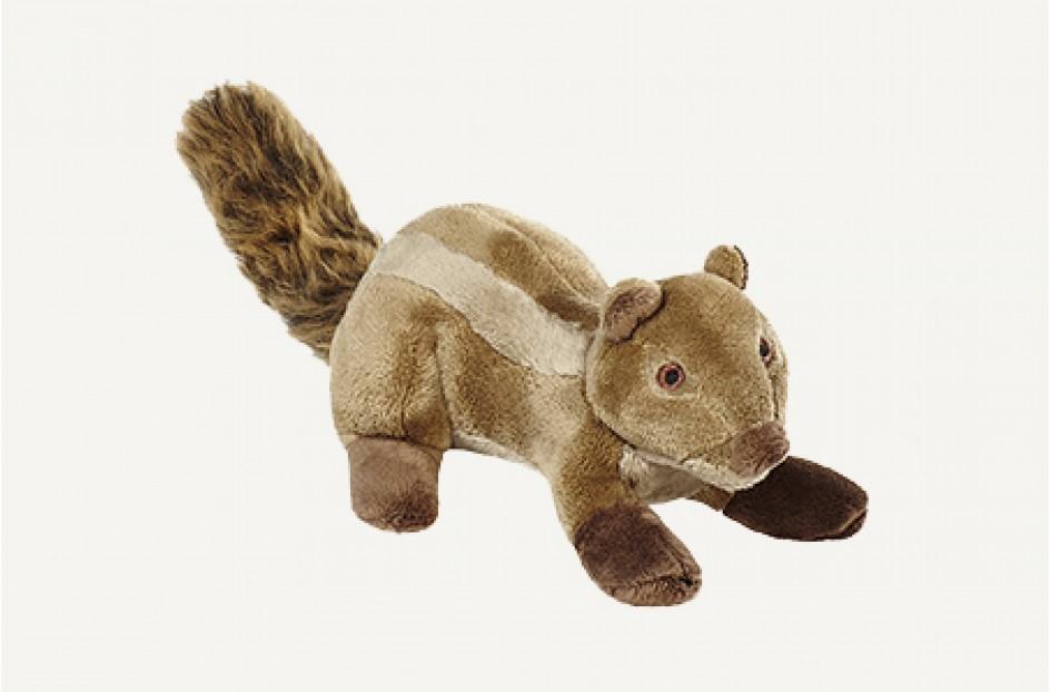 Fluff & Tuff Peanut Chipmunk Dog Toy, 7-in
