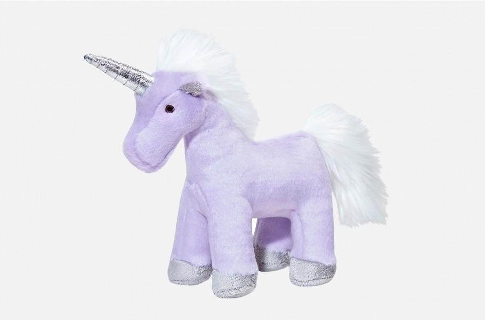 Fluff & Tuff Violet Unicorn Dog Toy, 9-in