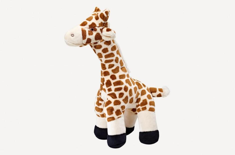 Fluff & Tuff Nelly Giraffe Dog Toy, 13-in