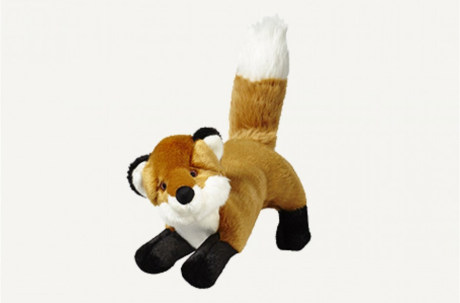 Fluff & Tuff Hendrix The Fox Dog Toy, 12-in