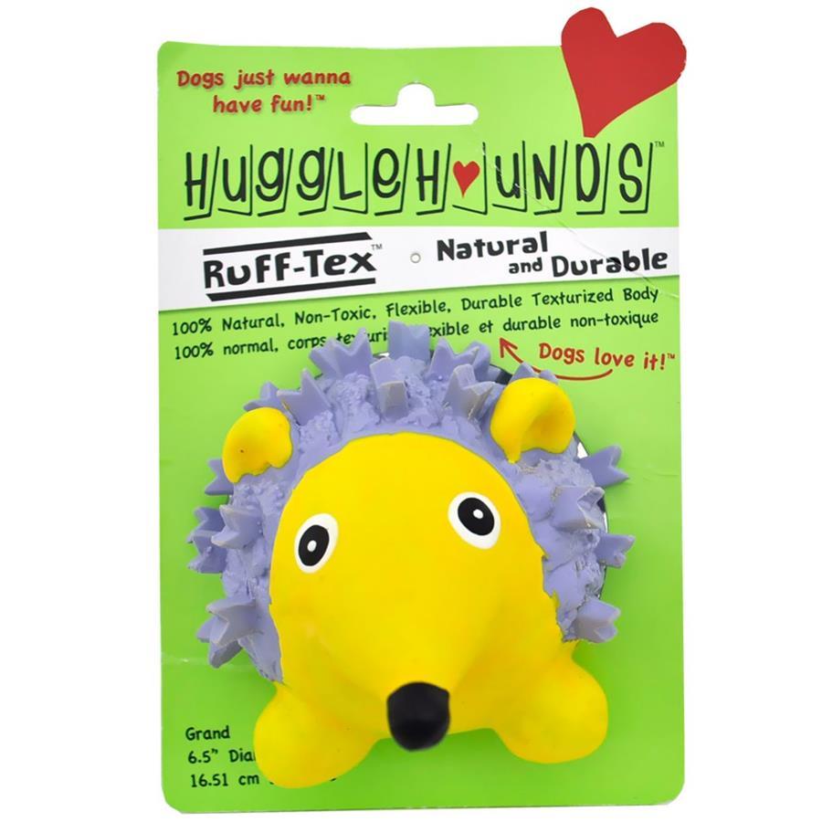 HuggleHounds Ruff-Tex Violet the Hedgehog Dog Toy, Large