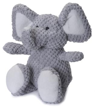 GoDog Checkers Chew Guard Elephant Dog Toy, Mini