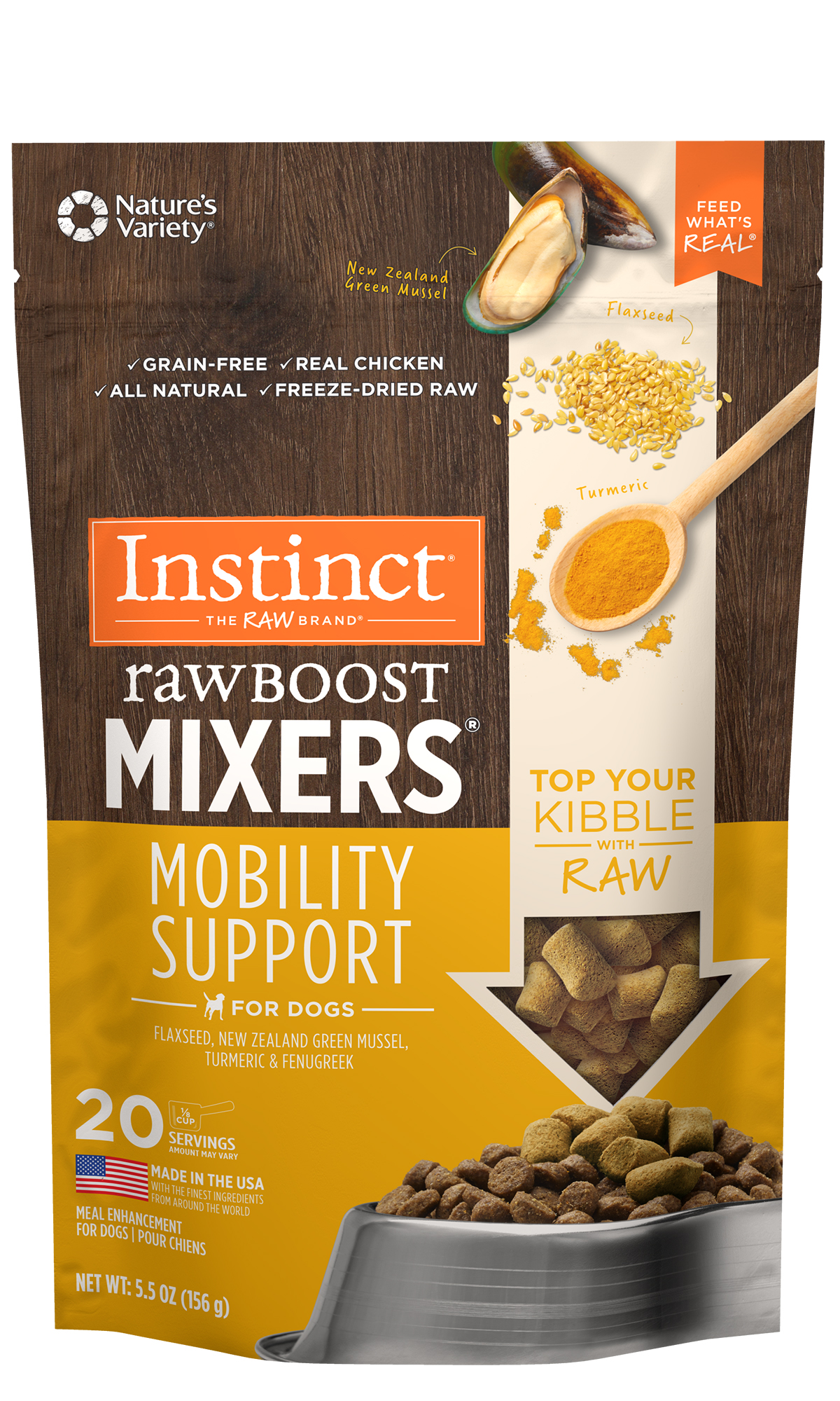 Nature's Variety Instinct Raw Boost Mixers Mobility Support, 5.5-oz