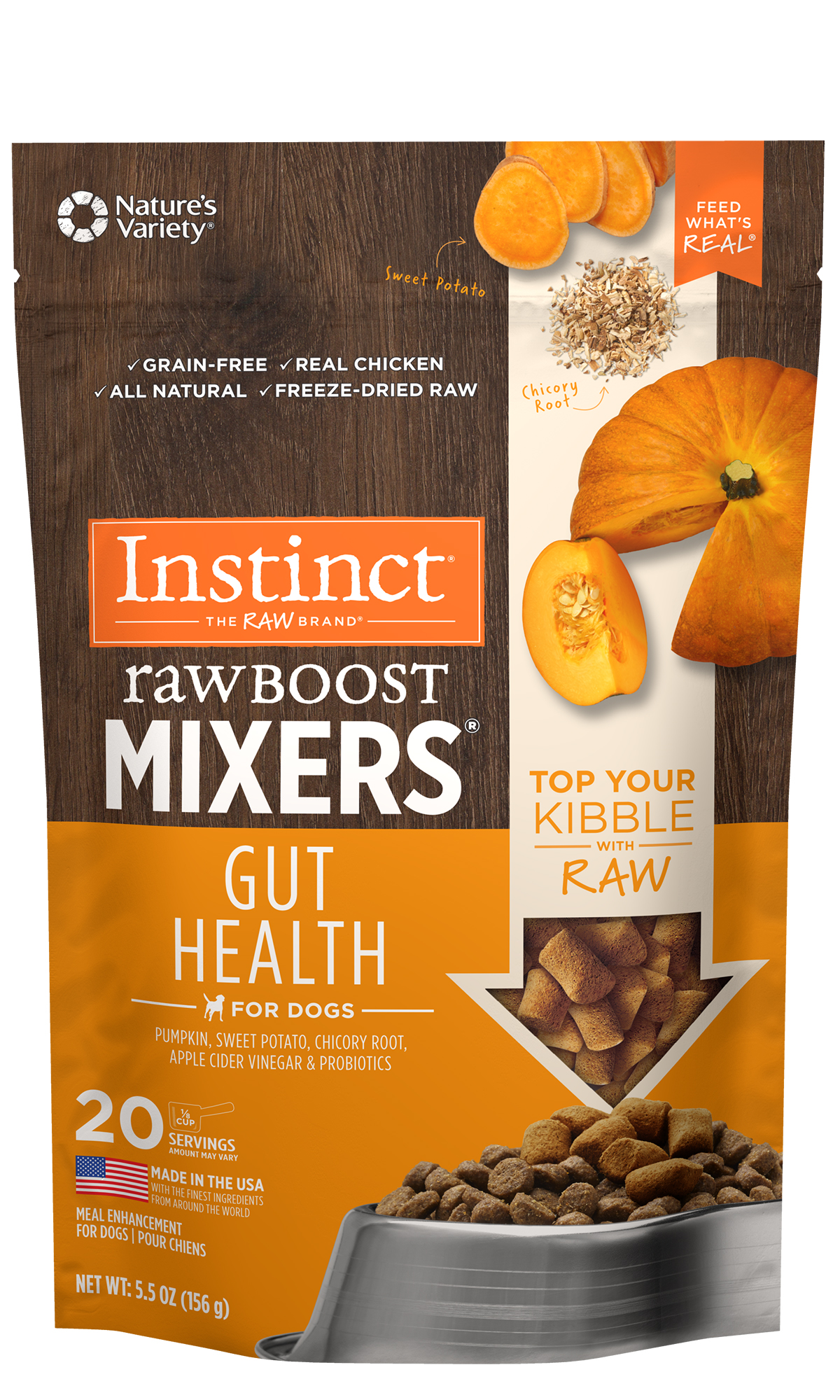 Instinct by Nature's Variety Raw Boost Mixers Gut Health, 5.5-oz