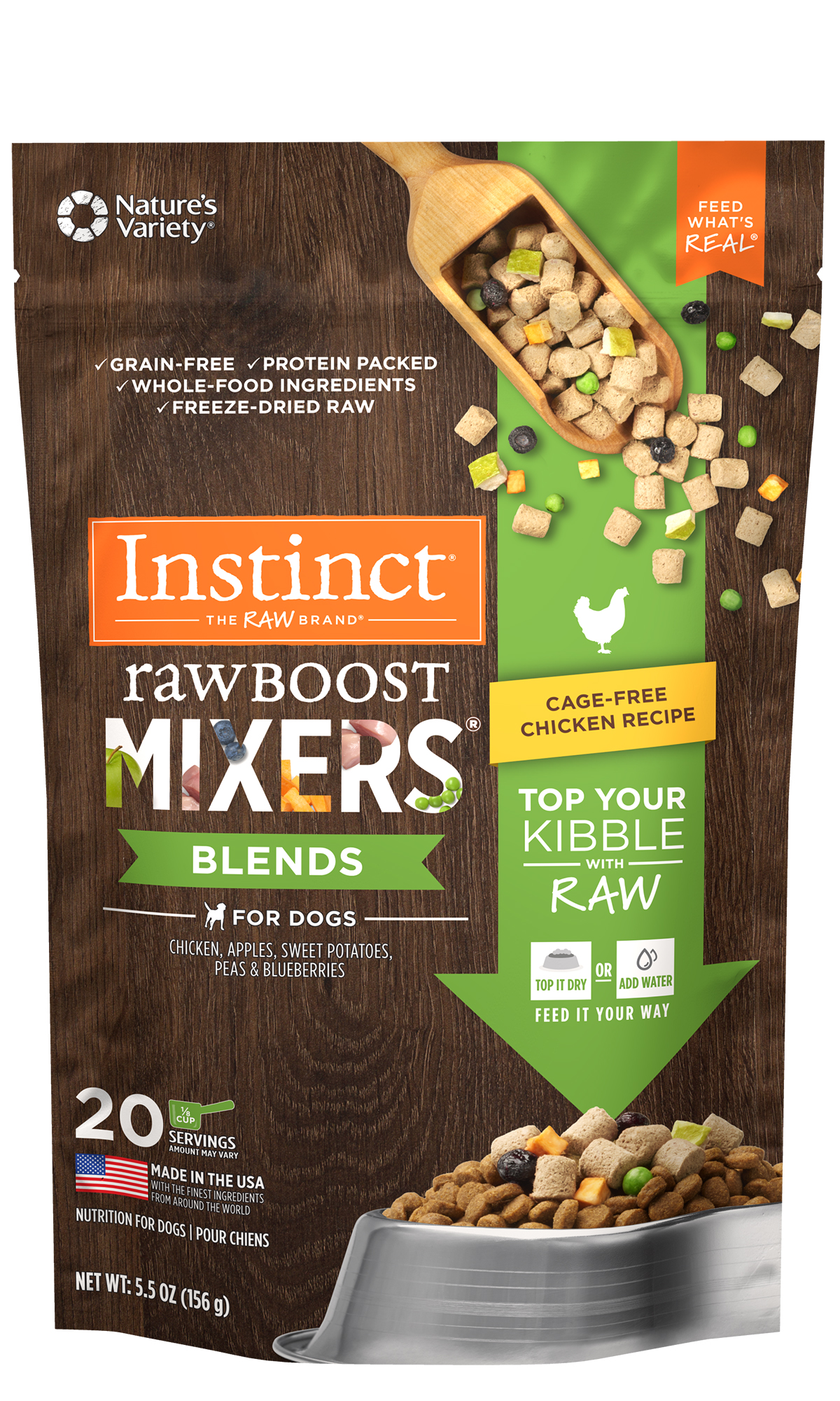 Instinct by Nature's Variety Raw Boost Mixers Cage-Free Chicken Recipe, .75-oz
