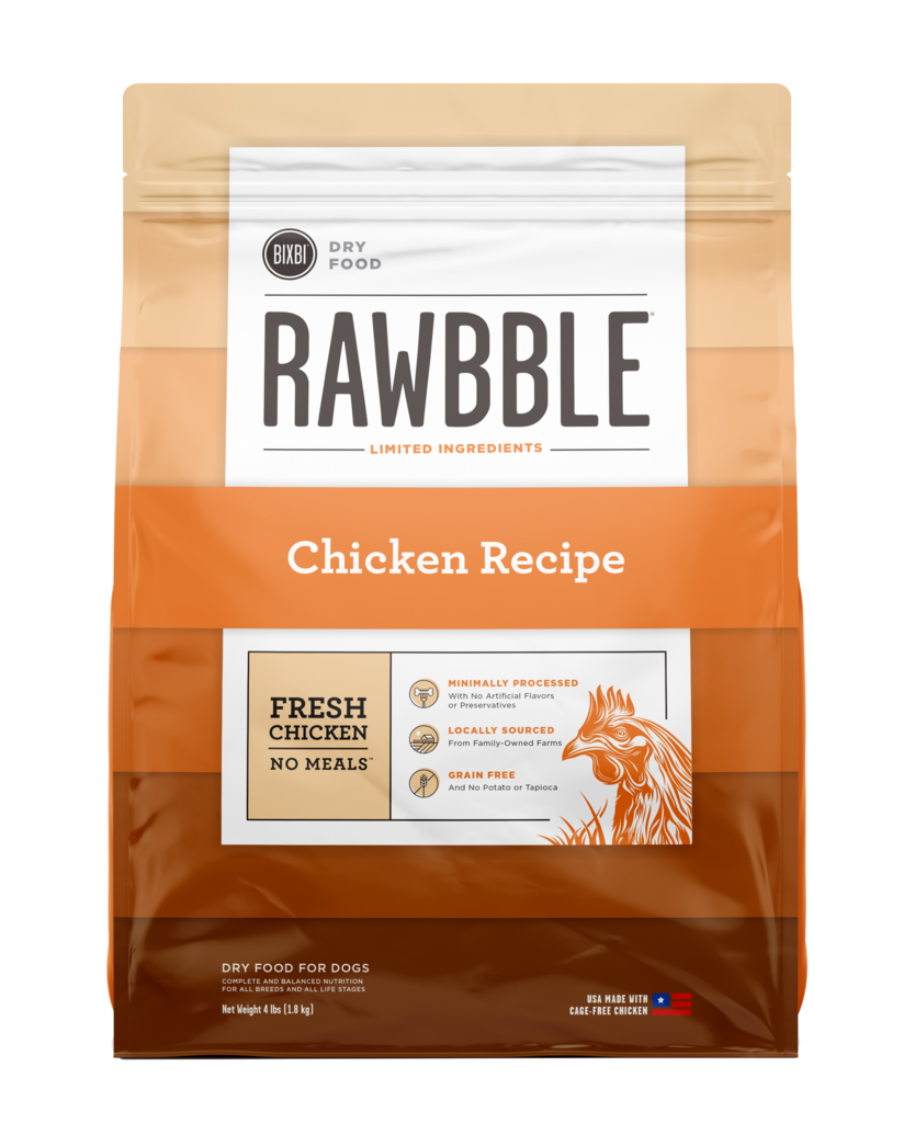 Rawbble Dry Food Chicken Recipe for Dogs