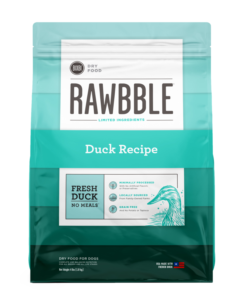 Rawbble Dry Food Duck Recipe for Dogs