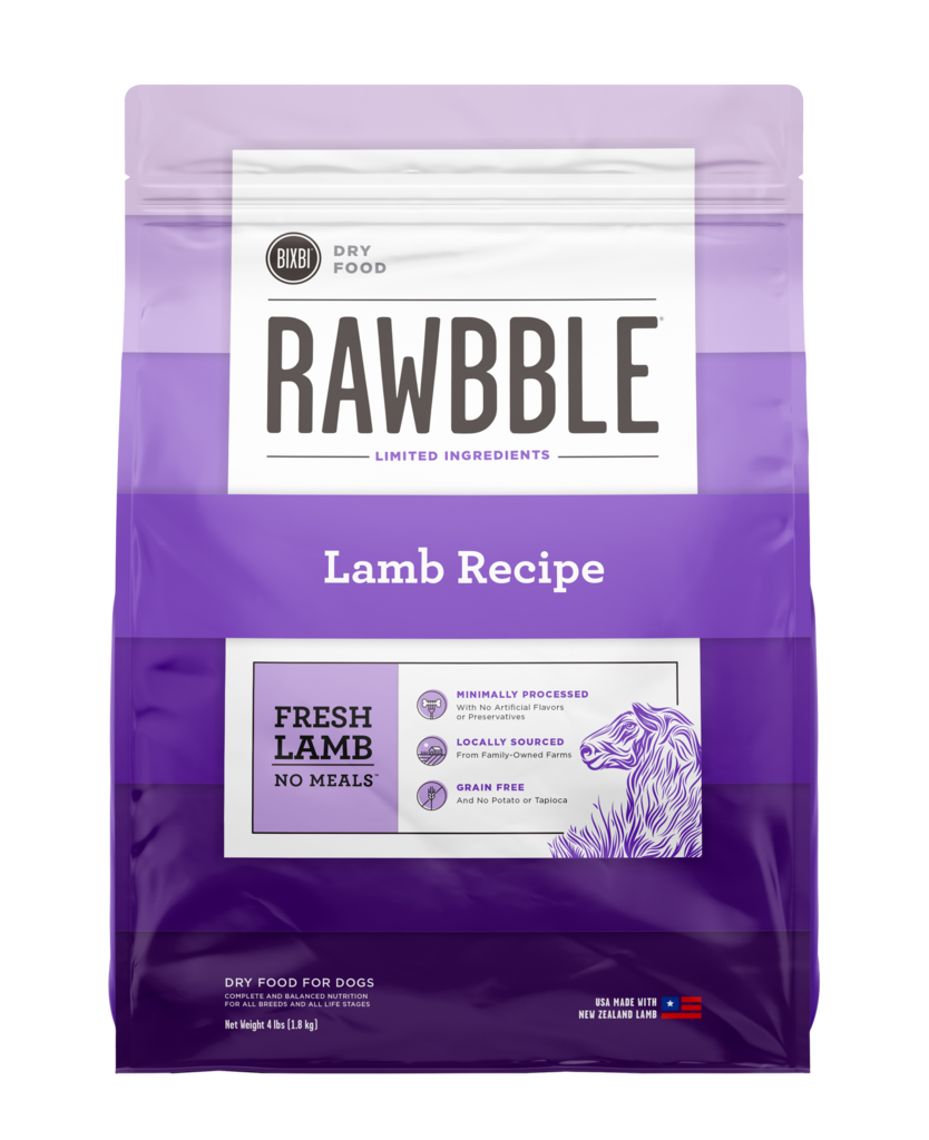 Rawbble Dry Food Lamb Recipe for Dogs
